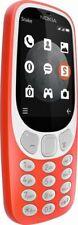 Nokia 3310 Dual SIM Handy 2017 (Ohne Simlock) Mobiltelefon Cell Phone Rot/Orange