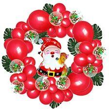 Christmas Decorations Red Balloon Kit Merry Christmas Santa ClausFoil Balloon Us