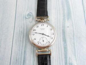 Gostrest Tochmekh Moscow Enamel Dial Vintage Swiss mechanical Wristwatch Art Dec