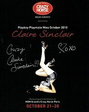 """Claire Sinclair Signed 8""""x10"""" Photo - Playboy PMOY 2011 - Crazy Horse"""