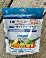Bluapple One-Year Refill Kit (8 Packets) Keeps Produce Fresh