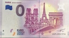 BILLET 0 EURO  PARIS BATEAUX PARISIENS FRANCE    2019-1 NUMERO DIVERS