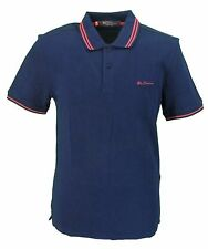 Ben Sherman Script Navy/Red 100% Cotton Polo Shirt