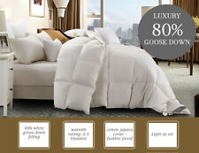 WINTER WARM 800GSM QUEEN SIZE 80% WHITE GOOSE DOWN QUILT DOONA DUVET 5 BLK WARM