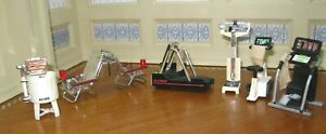 Lot: 7 Small-Scale Exercise Equipment & Household Appliances MAGNETS Miniatures