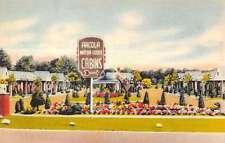 Paramus New Jersey Arcola Motor Lodge Sign View Linen Antique Postcard K16877