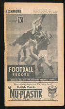 1965 Football Record Richmond v Collingwood Home & Away July 24 Tigers Magpies