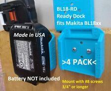 Battery Holder for MAKITA BL18 18V Mount Store Locking USA Made 4 Pack BL18-RDx4