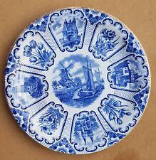 "8"" Dutch Plate Dish Delft Blue Tulip Castel Design Soc.Ceramique Maestricht"