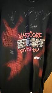 ECW signed Autographed Shirt Hardcore Thursday 2000 Rare Multiple Autographs