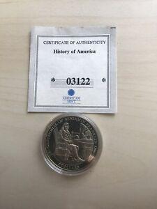 "AMERICAN MINT $5 COIN: copper nickel ""300th anniversary Ben Franklin"" 2006"