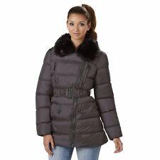 Rocawear Plus Asymmetrical Puffer With Faux Fur Collar Titanium Gray 1X NWT