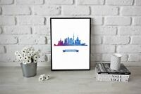 City Skyline Pop Art - Concept - Nature Print Moscow Skyline