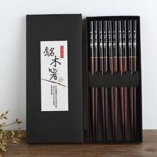 Japanese Korean Food 5 Pairs of Chopsticks Wooden Bamboo Handle Couple Reusable
