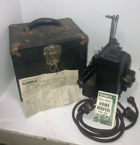 Kodascope Model D Projector and Locking  Carrying Box *TESTED & INSPECTED* 1942!