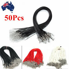 50Pcs 1.5mm Leather Cord Necklace With Lobster Clasp Charms Jewelry DIY Making