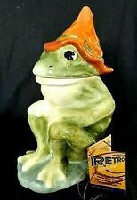 American Retro Frog Cookie Jar Hill Billy Hillbilly Orange Hat Jar Junior 2004