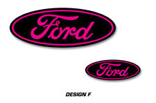 Ford Oval Logo Decal 2PK Set for F150 F-150 RAPTOR Sticker Overlay 10-14 PINK
