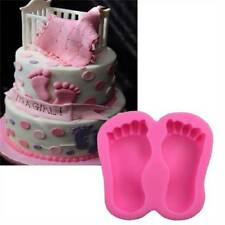 Baby Feet Shape Silicone Cake Chocolate Ice Tool Baking Mold W