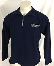 Navy Blue Half-Zip Fleece Jacket Leinenkugel's Brewing Co. Women's XL USA Made