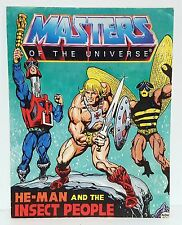 MOTU HE-MAN AND THE INSECT PEOPLE MINI COMIC Vintage Action Figure Booklet 1983
