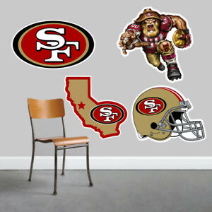 San Francisco 49ers Wall Art 4 Piece Set Large Size------New in Box------