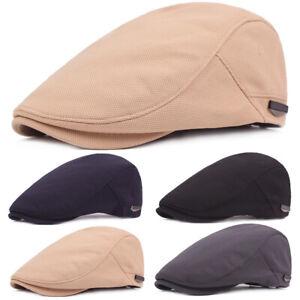 Unisex Men Women Adjustable Golf Visor Driving Cap Newsboy Hats Casual Beret Hat