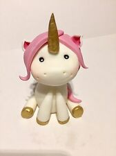 Edible Pink fairytale unicorn sugar paste decoration cake toppers birthday