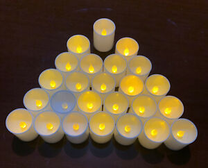 25pc. Plastic Flameless Flicker LED Voltive Candles