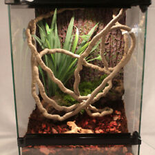 Reptiles Vine Climber Jungle Forest Bend Artificial Branch Terrarium Cage Decor