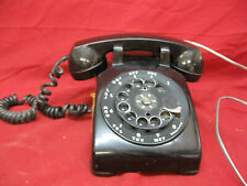 Vintage Bell Systems Black Rotary Desk Telephone Phone Western Electric