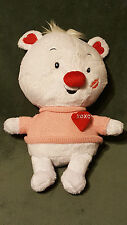 AMERICAN GREETING White Bear Heart Singing Love XOXO Plush Stuffed Animal