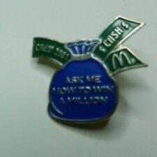 McDonald's Millionaire Monopoly Pin Employee Crew Lapel 2001 Collectible