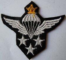 Insigne patch Brevet Parachutiste Perse N°3 rare original persian wing para