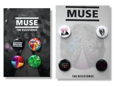 MUSE - 8 PIN BUTTON GIFT SET PACK RESISTANCE - NEW BAND OFFICIAL LICENSED