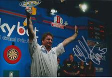Colin JAWS LLOYD Signed 12x8 Autograph Photo AFTAL COA DARTS World Matchplay