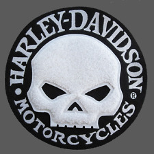 HARLEY DAVIDSON WILLIE G SKULL CHENILLE (XL) PATCH