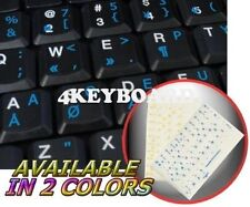 PROGRAMMER DVORAK TRANSPARENT KEYBOARD STICKER BLUE