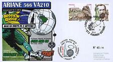 "VA210LT2 FDC KOUROU ""ARIANE 5 Rocket - Flight 210 / STAR ONE C3 & EUTELSAT"" 2012"