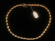 CHAINE PLAQUE OR MAILLE GRAIN LONG 40 CM 23 G VINTAGE NEUF/NEW GOLD PLATED CHAIN
