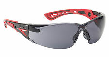 Bolle RUSH+ Safety Glasses - RUSHPPSF - UV Eye Protection - Smoke Lens