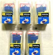 "5 NEW RYOBI 1/2"" CARBIDE TIPPED RABBETING ROUTER BITS 2 FLUTE #A25RB12"