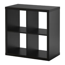 IKEA BLACK STORAGE DISPLAY UNIT SHELVING BOOKCASE KALLAX 77x77cm