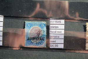 STAMPS FISCAL REVENUE JAMAICA USED (F111515)