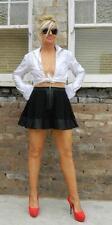 VINTAGE Bettina Liano Sexy Rock Chic Curvy Flounce Swing Mini Skirt