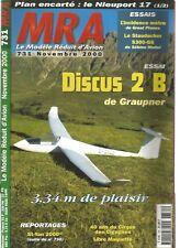 "MRA N°731 PLAN : ""NIEUPORT 17"" CHASSEUR  GDE GUERRE / DISCUB 2 B / STAUDACHER"