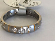 Christian Bauer Platinum 18kyellow gold Band.56 carat Diamond 4mm wide size 6.75