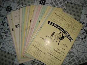 Full set of Darlington home programmes 1968-69- 26 programmes in all