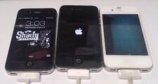 Lot of 3 Apple iPhone 4 Black and White - For Parts- READ BELOW