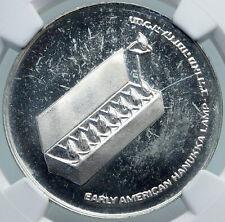 1976 ISRAEL American Menorah HANNUKAH LAMP Proof Silver 10 Lirot Coin NGC i87883